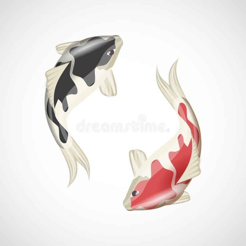 Ejemplo de los pescados de Koi ilustración del vector