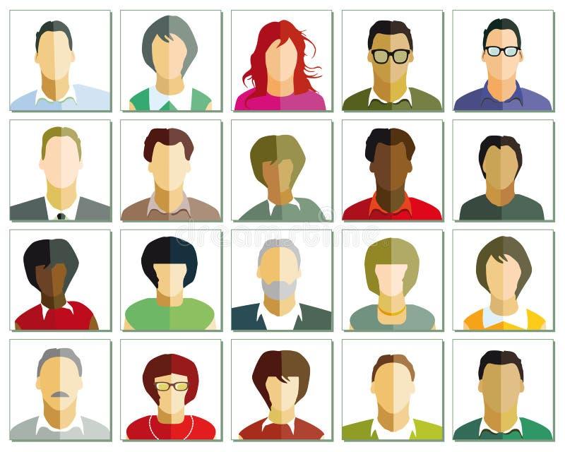 Ejemplo de los retratos stock de ilustración