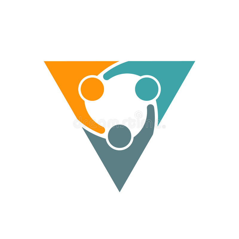 Ejemplo de los socios comerciales de la gente del triángulo libre illustration