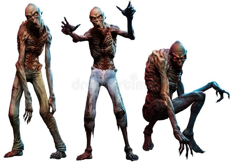 Ejemplo de los zombis o de los espíritus necrófagos 3D libre illustration