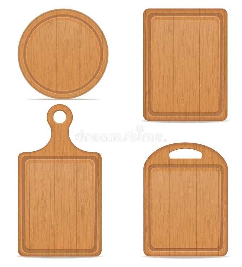 Ejemplo de madera del vector de la tabla de cortar ilustración del vector