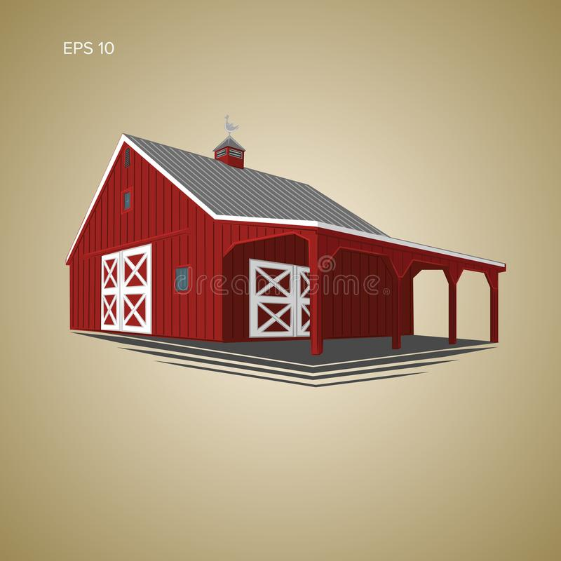 Ejemplo de madera del vector del granero libre illustration