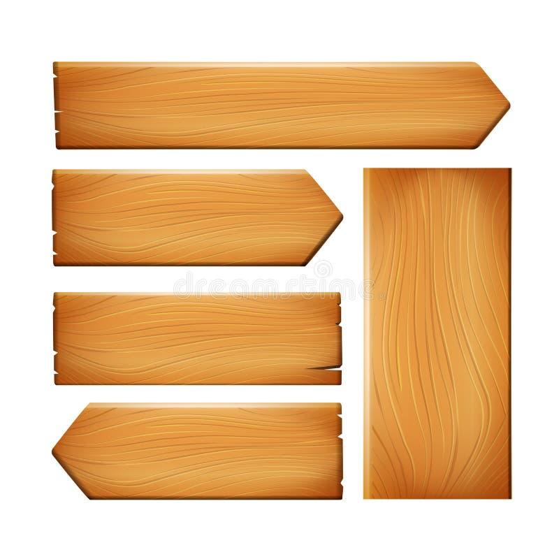 Ejemplo de madera eps10 0 del vector de la muestra del vintage realista de la naturaleza stock de ilustración