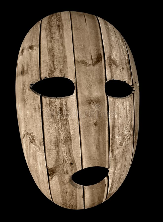 Ejemplo de madera de la máscara 3d libre illustration