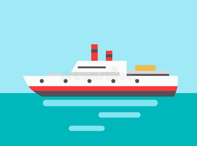Ejemplo de Marine Liner Icon Colorful Vector stock de ilustración