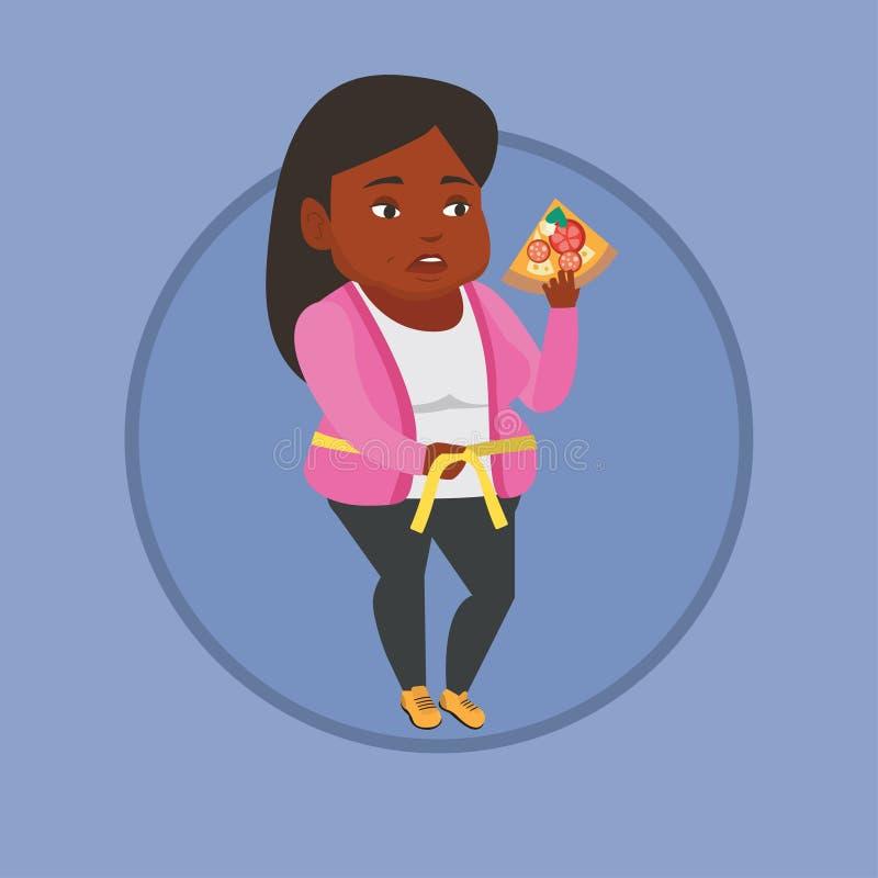 Ejemplo de medición del vector de la cintura de la mujer stock de ilustración