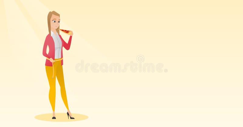 Ejemplo de medición del vector de la cintura de la mujer libre illustration
