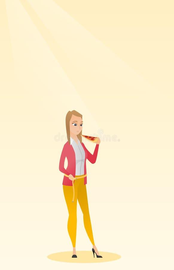 Ejemplo de medición del vector de la cintura de la mujer ilustración del vector