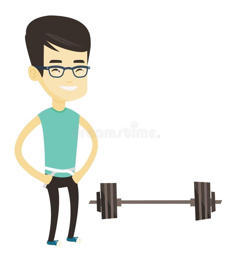 Ejemplo de medición del vector de la cintura del hombre stock de ilustración
