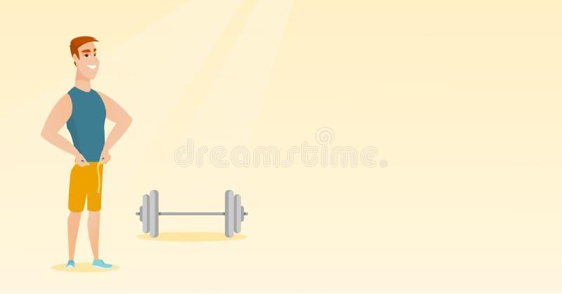 Ejemplo de medición del vector de la cintura del hombre libre illustration