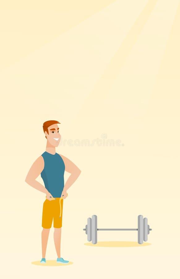 Ejemplo de medición del vector de la cintura del hombre ilustración del vector