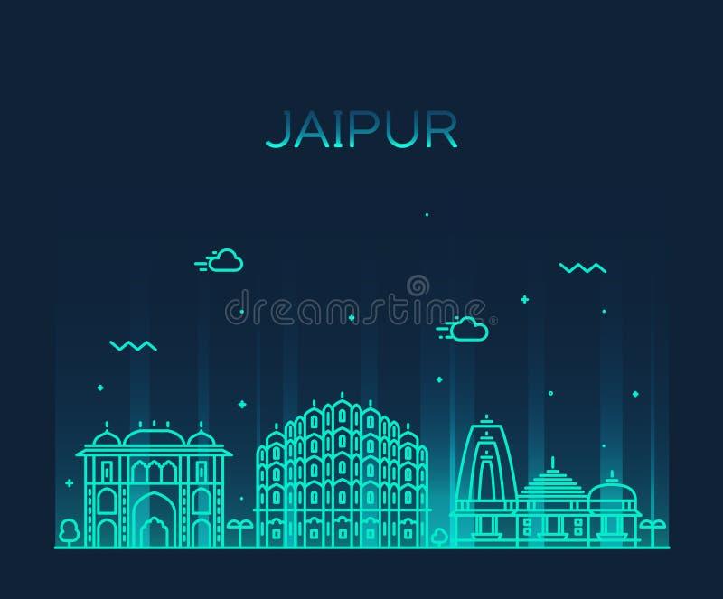 Ejemplo de moda del vector del horizonte de Jaipur linear stock de ilustración