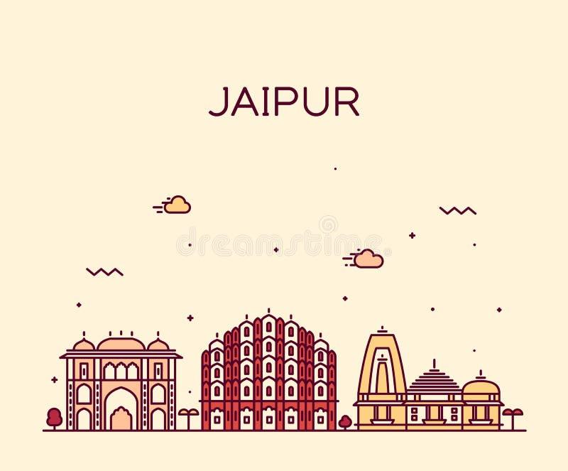 Ejemplo de moda del vector del horizonte de Jaipur linear libre illustration
