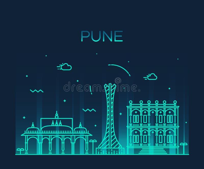 Ejemplo de moda del vector del horizonte de Pune linear ilustración del vector