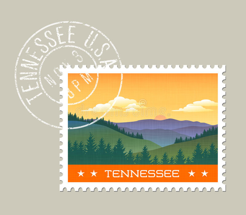 Ejemplo de montañas ahumadas, Tennessee ilustración del vector