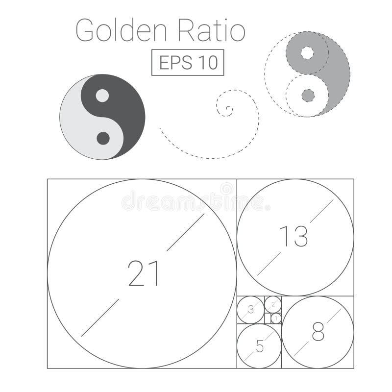 Ejemplo de oro del logotipo de la plantilla del ratio stock de ilustración