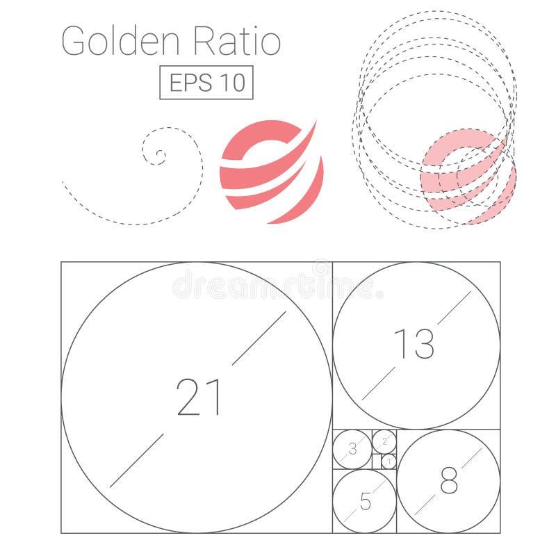 Download Ejemplo De Oro Del Logotipo De La Plantilla Del Ratio Ilustración del Vector - Ilustración de corporativo, globo: 100531871