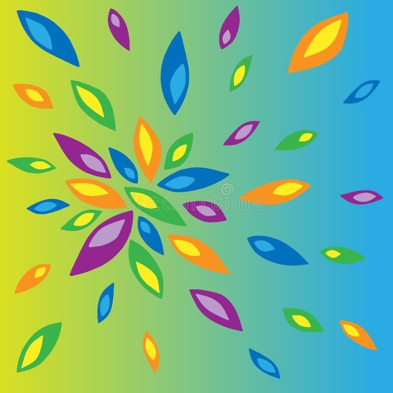 Ejemplo de pétalos coloreados ilustración del vector