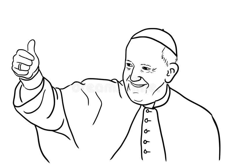 Ejemplo de papa Francisco ilustración del vector