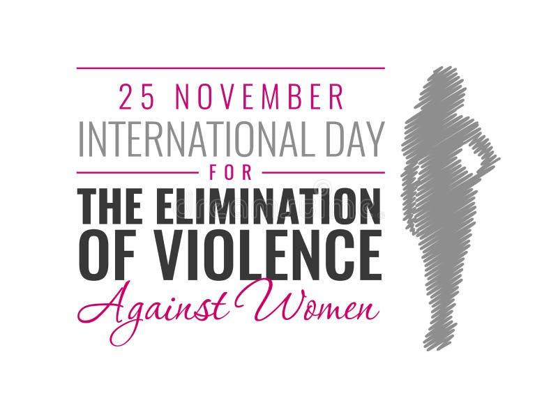 Ejemplo de papel del vector para el día internacional para la eliminación de la violencia contra mujeres ilustración del vector