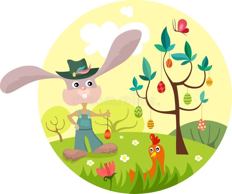 Ejemplo de Pascua stock de ilustración
