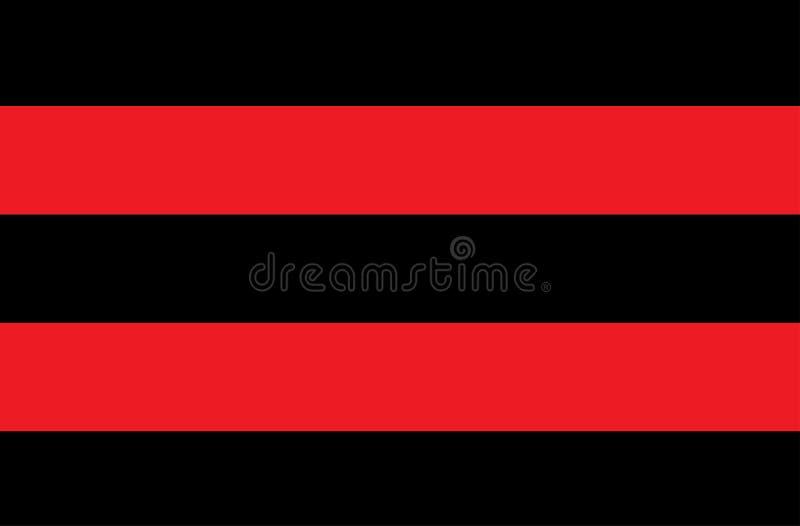 Ejemplo de rojo y de rayas negras un símbolo de sustancias peligrosas y radiactivas La muestra es ampliamente utilizada en indust imagenes de archivo