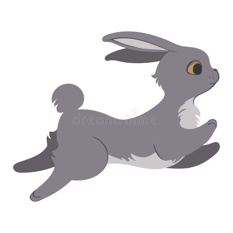 Ejemplo de salto del conejito ilustración del vector