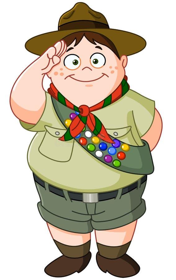 Boy scout ilustración del vector