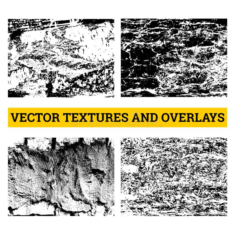 ejemplo de semitono abstracto del vector Texturas y capas del Grunge para el fondo y el diseño stock de ilustración