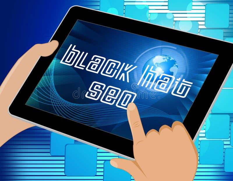 Ejemplo de Seo Website Optimization 3d del sombrero negro ilustración del vector