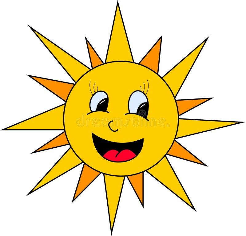 Ejemplo de Sun ilustración del vector