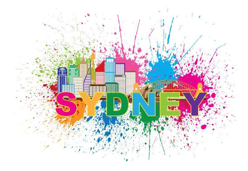 Ejemplo de Sydney Australia Skyline Colorful Abstract ilustración del vector