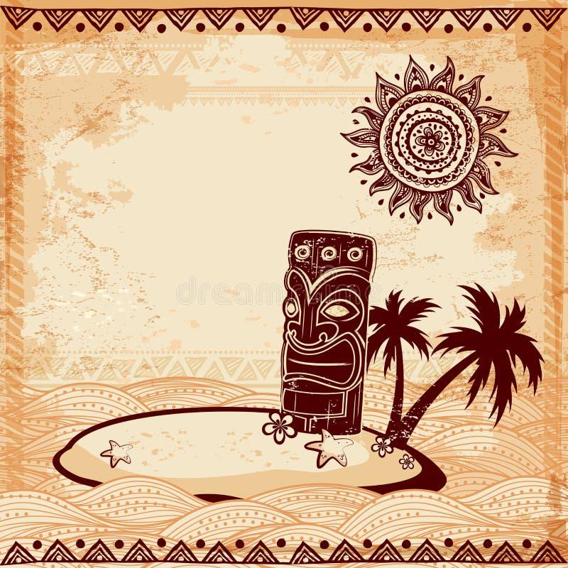 Ejemplo de Tiki del vintage stock de ilustración