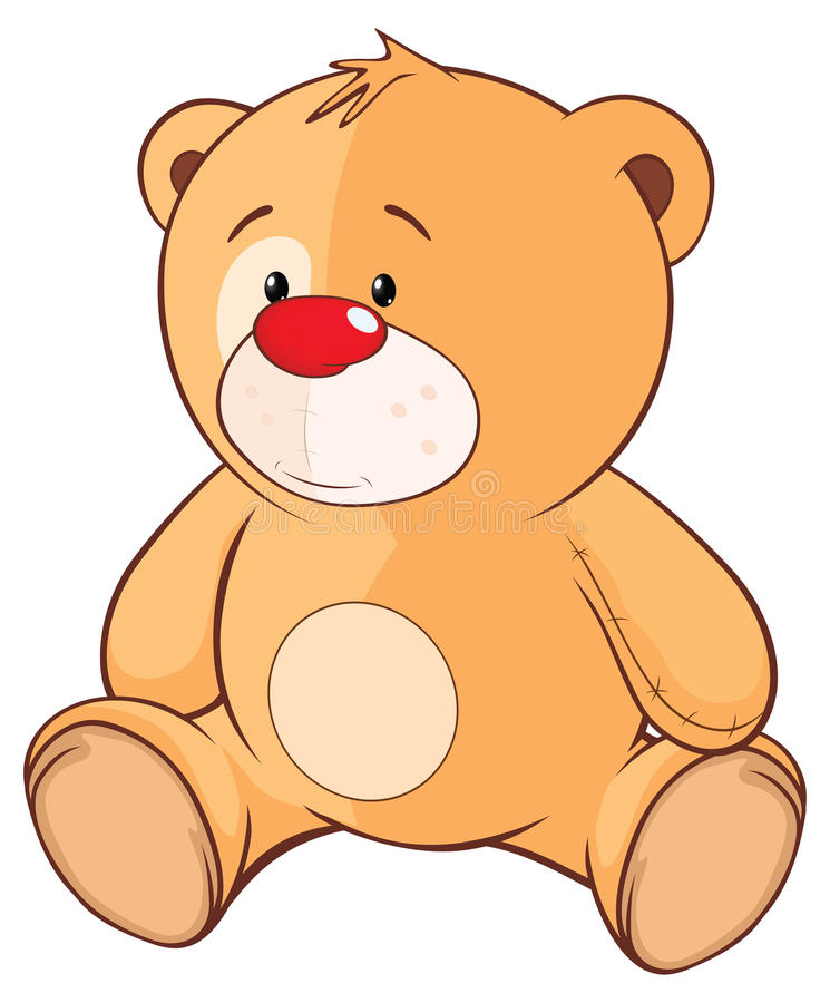 Ejemplo de Toy Bear Cub relleno Personaje de dibujos animados libre illustration