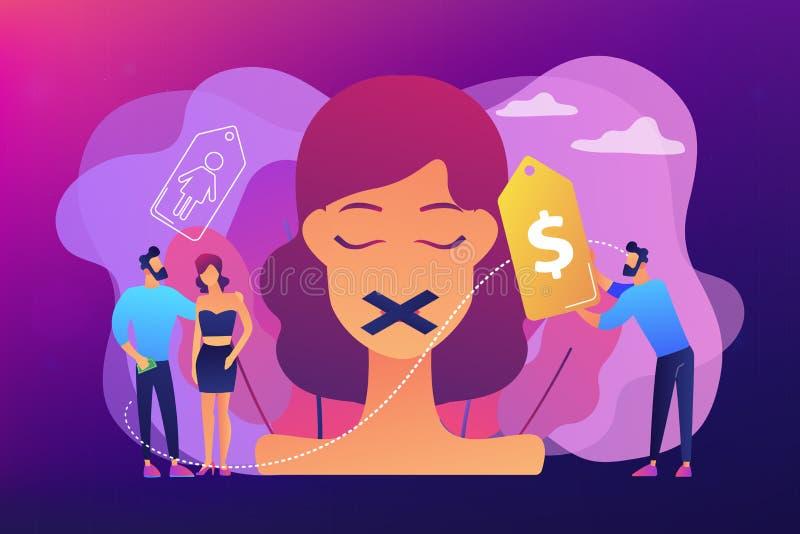 Ejemplo de tráfico del vector del concepto del sexo libre illustration