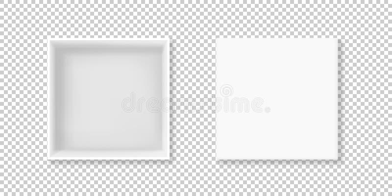 Ejemplo de tragante abierto del vector de la opinión de la caja blanca stock de ilustración