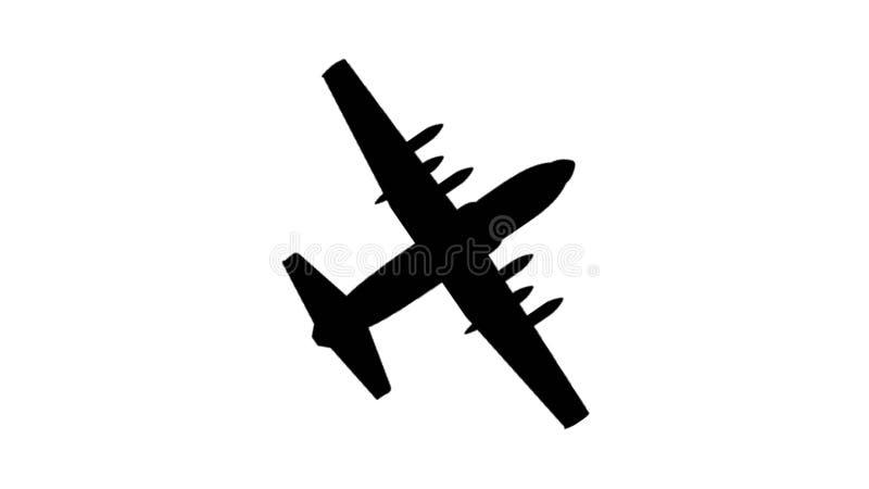 Ejemplo de un avión del vuelo ilustración del vector