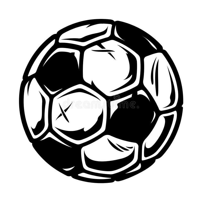 Ejemplo de un bal?n de f?tbol en un fondo blanco libre illustration