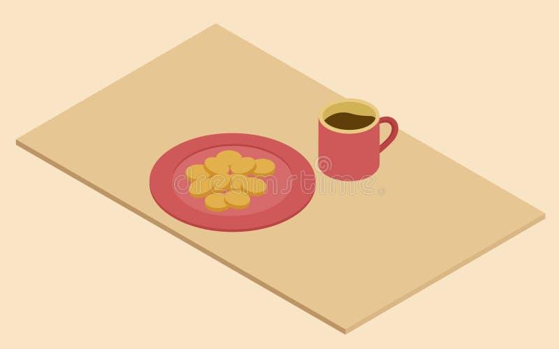 Ejemplo de un bocado y de un chocolate libre illustration