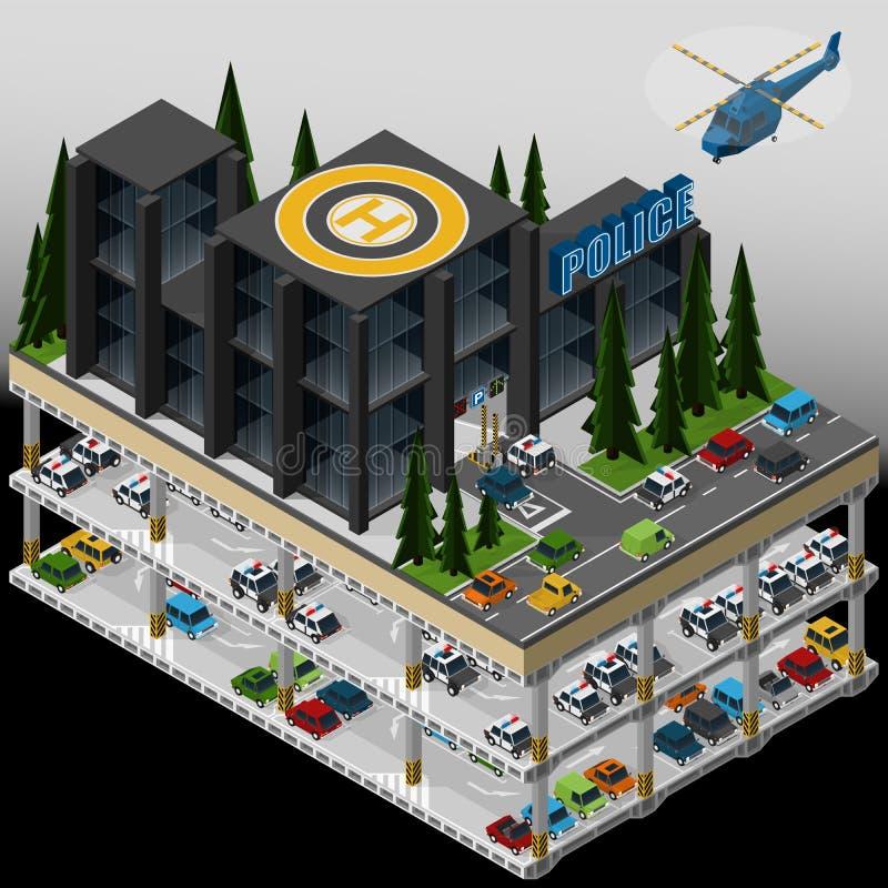 Ejemplo de un Departamento de Policía ilustración del vector