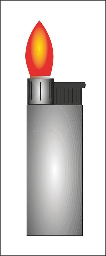 Ejemplo de un encendedor con la llama stock de ilustración