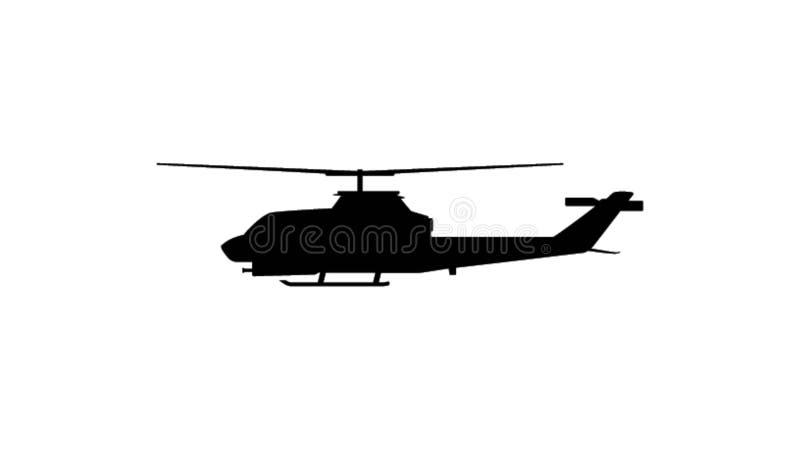 Ejemplo de un helicóptero del vuelo ilustración del vector