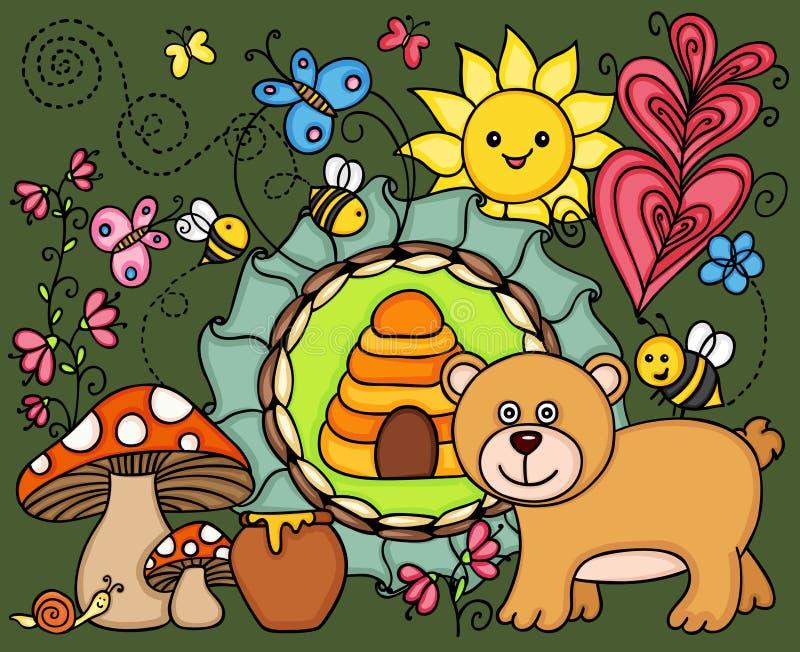 Ejemplo de un oso hambriento libre illustration