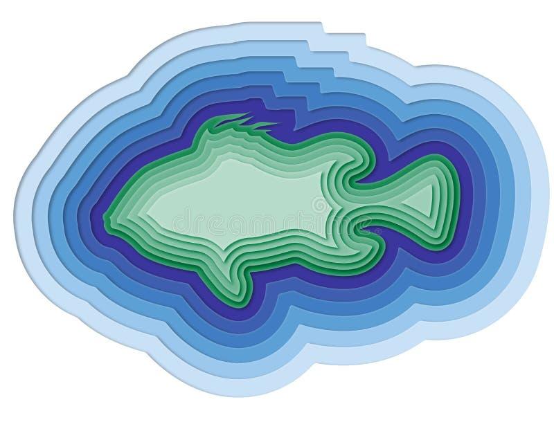 Ejemplo de un pescado acodado en el océano libre illustration