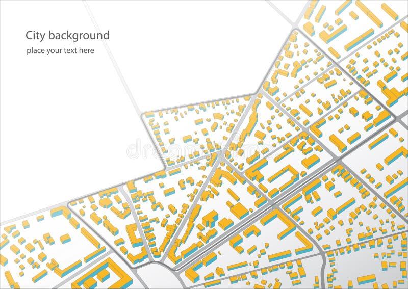 Ejemplo de un plan imaginario del distrito libre illustration