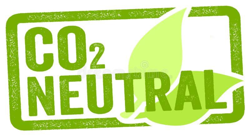 Ejemplo de un sello con neutral del carbono del CO2 libre illustration