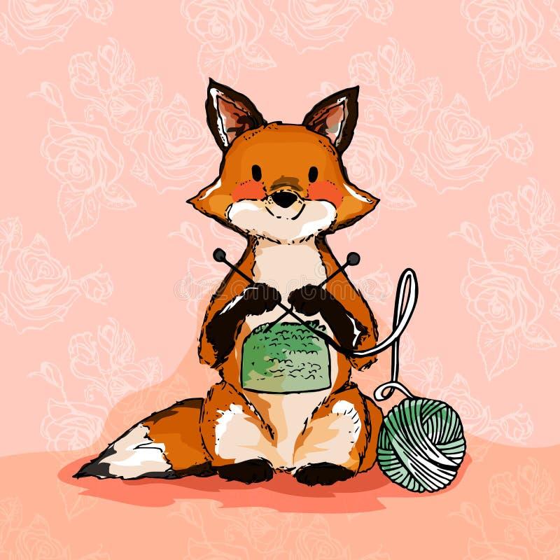 Ejemplo de un zorro Ganchillo y costura libre illustration