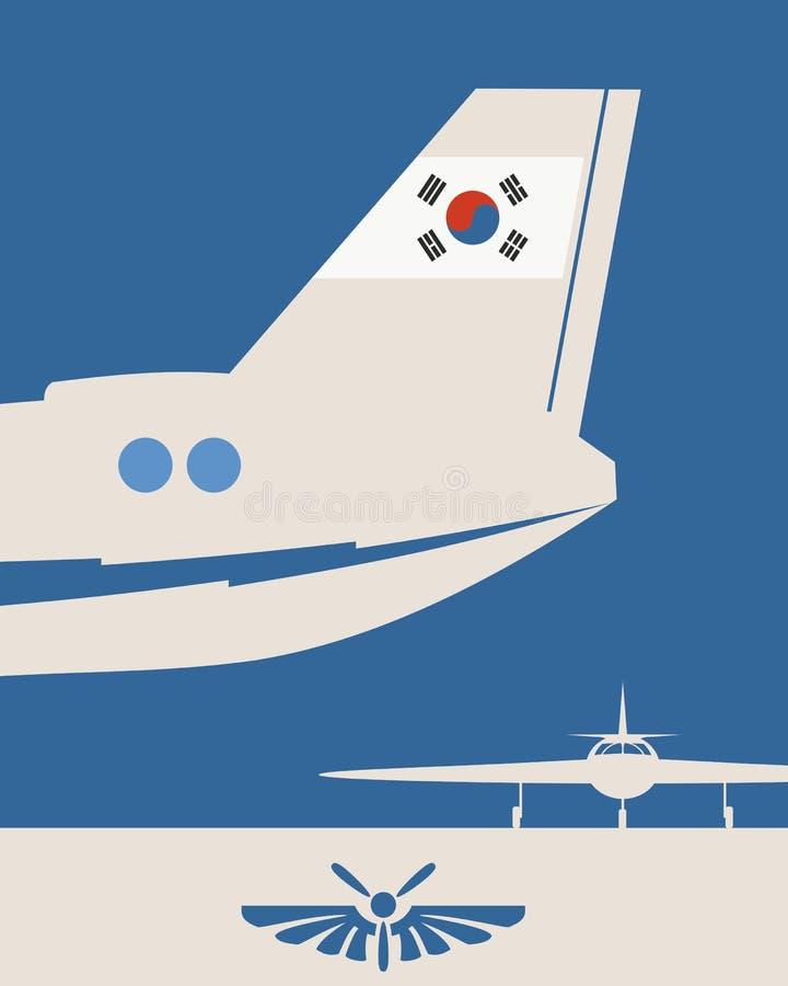 Ejemplo de una cola del aeroplano ilustración del vector