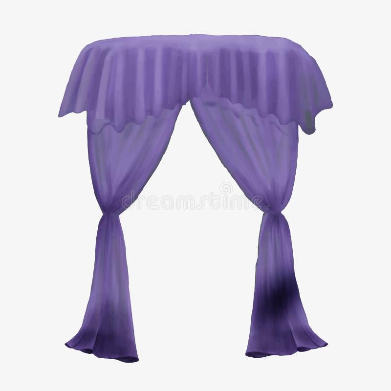 Ejemplo de una cortina púrpura ilustración del vector
