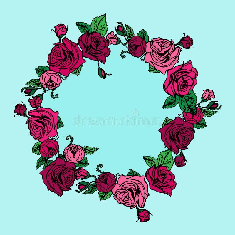 Ejemplo de una guirnalda de rosas libre illustration